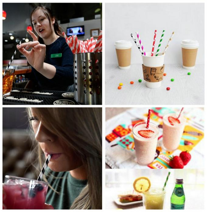 60GSM Food Safe Flood Coated Black Printed Drinking Straw Paper Roll For Beverage